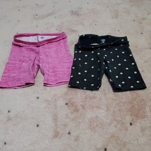 2 Old navy Jersey bike shorts for girls
